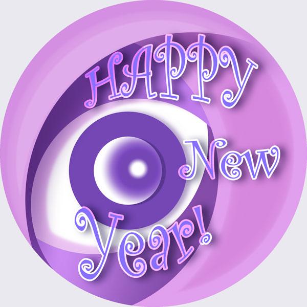 Mibogirl's Happy New Year logo