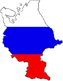 Russian Federation map flag